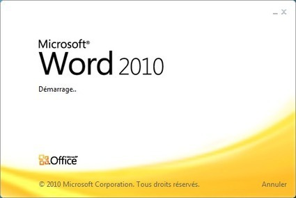 Comment supprimer le splash screen de Word, Excel et PowerPoint 2010 | Time to Learn | Scoop.it