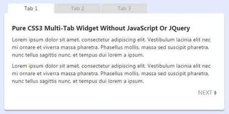 Pure CSS3 Multi-Tab Widget Without JavaScript Or JQuery | EXEIdeas | Scoop.it