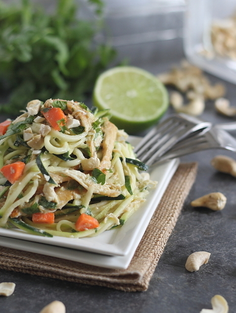 Thai chicken zucchini noodles | The Man With The Golden Tongs Goes All Out On Health | Scoop.it
