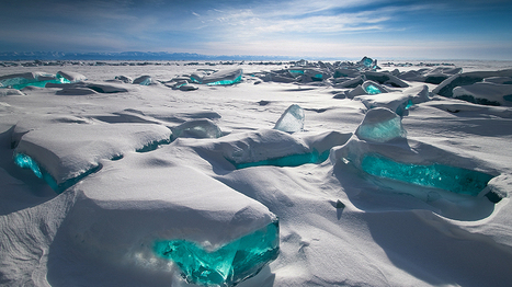 Stunning Turquoise Ice on Ancient Lake - weather.com | Ancient Origins of Science | Scoop.it