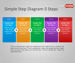 Free Simple Step Diagram for PowerPoint | Free step diagrams for Powerpoint | Scoop.it
