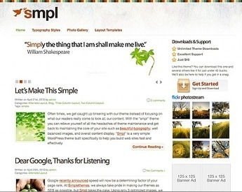 50+ Best High Quality Minimal WordPress Themes | Alpha et Omega du Webdesign | Scoop.it