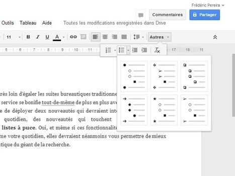 Google Drive : du nouveau pour les vérifications orthographiques et les listes à puce | Geeks | Scoop.it