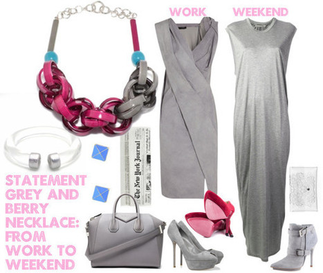 grey and berry   work to weekend   styleosophy   Scoop.it
