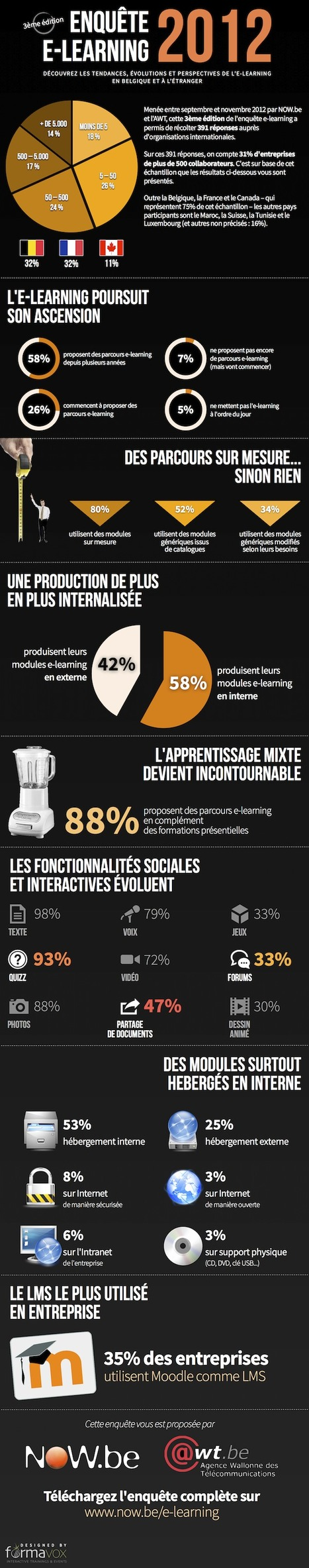[Infographie] Enquête e-learning francophone 2012 ! | NOW.be | Scoop.it