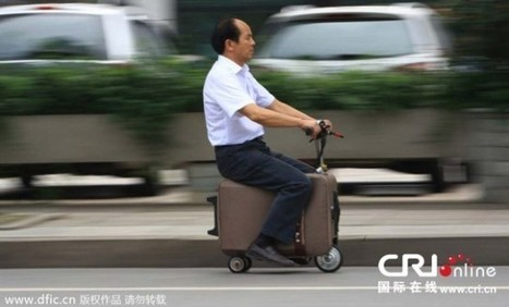 Chinese Farmer Transforms A Suitcase Into An Electric Scooter | Travel Bites &... News | Scoop.it