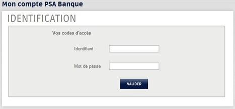 Connexion à mon compte PSA Banque - Première Fois | Mon Compte | Scoop.it