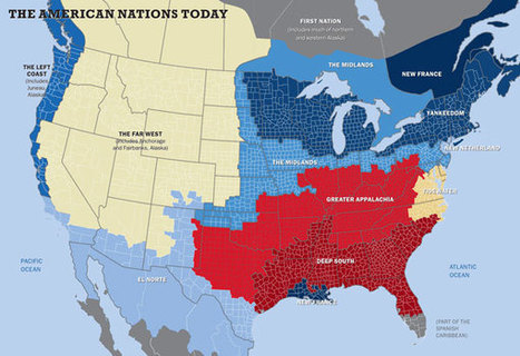 The 11 American nations, in one map | Geography Education | Scoop.it