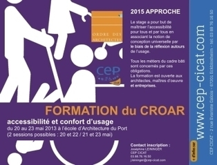 Formation Croar: accessibilité et conception universelle – archi.re ... | Conception universelle et accessibilité | Scoop.it