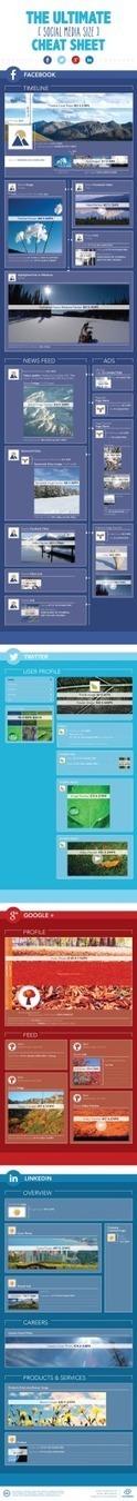 Guía tamaños imágenes Redes Sociales #infografia #infographic #socialmedia | SocialMedia | Scoop.it