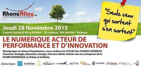 CONFERENCE 28/11/2013 - Cluster RhoneAlley | Developpement Durable 2.0 | Scoop.it