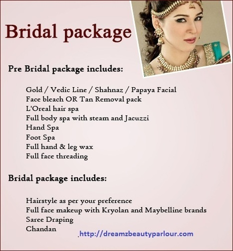 Special packages for Bridals | Dreamz Beauty Parlour | Scoop.it