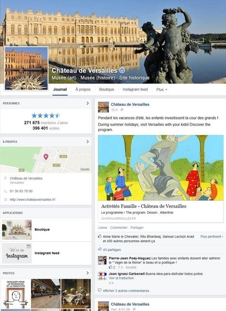 Clic France / Top 40 des musées et monuments français sur facebook et twitter (2 juillet 2015): le Musée du Luxembourg et le Palais de la Découverte en hausse ! | Clic France | Scoop.it