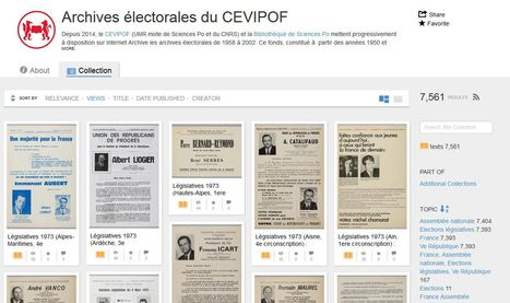 Archives électorales du CEVIPOF  - Internet Archive | Nos Racines | Scoop.it