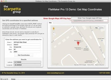FileMaker 13 Google Maps API Geocode |The Scarpetta Group, Inc. | All things Filemaker  Go | Scoop.it