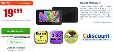 Bon Plan Tablette Android 7 Pouces à 19€ | Les bons Plans de tablettes Android | Scoop.it