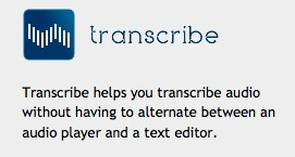 Transcribe - free online tool to help with transcription of interviews or audio recording | TELT | Scoop.it