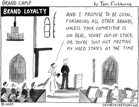 """Brand Loyalty"" cartoon | Tom Fishburne: Marketoonist | Branding and destination branding | Scoop.it"
