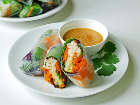 Fresh Spring Rolls | The Man With The Golden Tongs Goes All Out On Health | Scoop.it