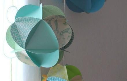 Un mobile de globes de papier   Club créativité   Scoop.it
