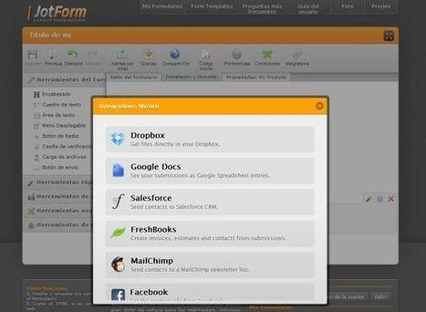 JotForm herramienta para crear formularios se vitamina con la integración de otros servicios web | Ciencia Y Tecnología | Scoop.it