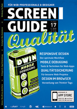 SCREENGUIDE Ausgabe 17 | Webstandards | Scoop.it