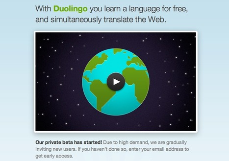 Duolingo -learn a language for free, and simultaneously translate the Web. | Crowdsourcing Research | Scoop.it