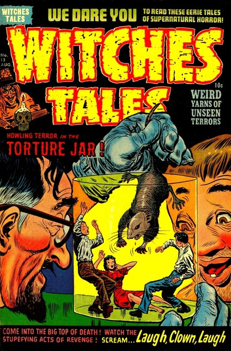 Lurid cover art from 1950s comic, Witches Tales   Smarter Clicks ...   1950's   Scoop.it
