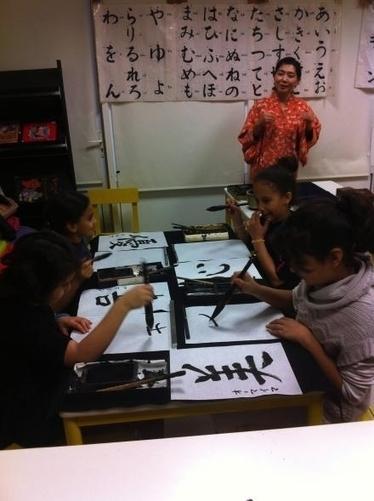 La calligraphie japonaise expliquée aux enfants - Courrier Picard | Japon | Scoop.it