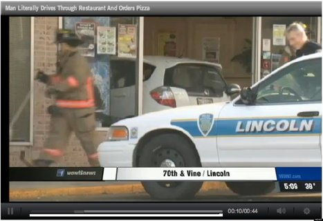 Man Crashes Car Into Pizza Restaurant, Orders Pizza | Strange days indeed... | Scoop.it