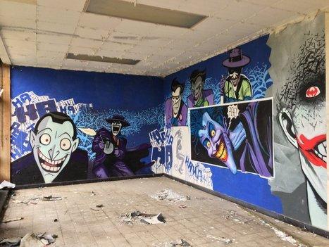 Incredible Batman Graffiti Found in Abandoned Nursing Home - FEARnet.com | Street art news | Scoop.it