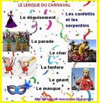 Le vocabulaire du Carnaval   FLE enfants   Scoop.it