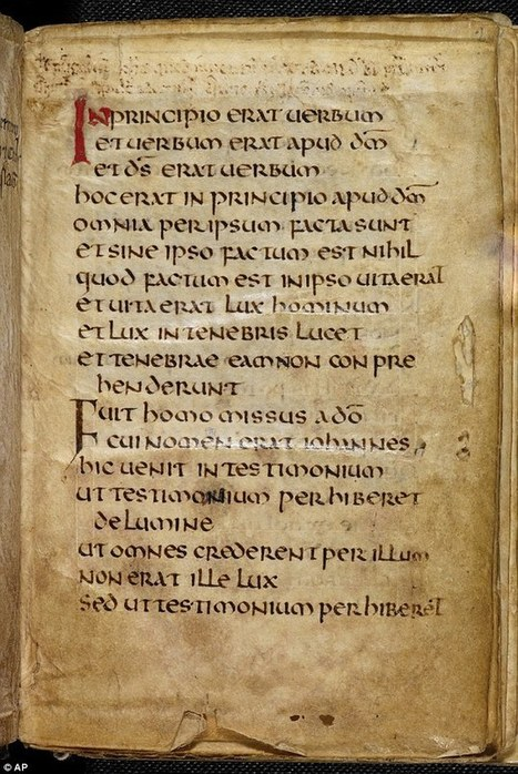 Europe's oldest book: Ancient Lindisfarne gospel which survived pillaging Vikings and lay in a saint's coffin for centuries | Vikings and Anglo-Saxons | Scoop.it