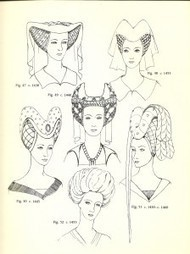 Glossary of English Hairstyles and Headdress; Jewels, Hair and Accessories of the Middle Ages | Época Medieval: Vestuario y Calzado | Scoop.it