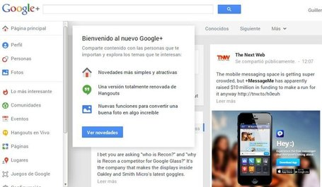 Google+ y lo más destacado de su rediseño | google + y google apps | Scoop.it