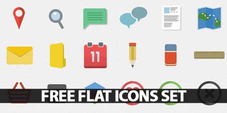 Free Flat Icons Set for Websites, Apps and Infographics | Icons | Graphic Design Junction | JHdez - Tech | Scoop.it