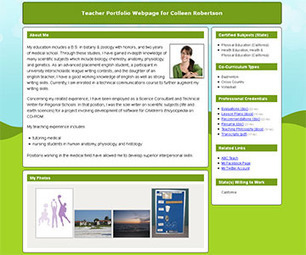 Portfoliogen - Create a Free Customized Teacher Portfolio Webpage in Minutes! | TICs para los de LETRAS | Scoop.it