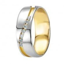 18K - WEDDING BAND - diamond fc 0,21 Ct. w/si - Wedding   Price Range: US$1274.00   Wedding Band Collection Dubai   Scoop.it