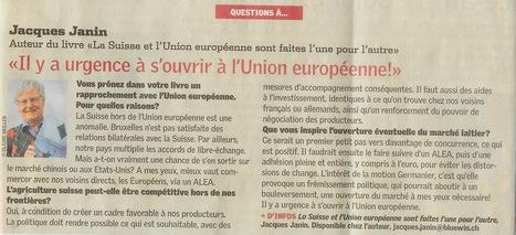 Il y a urgence à  s'ouvrir à l'Union Européenne | La Suisse et l'union européenne sont faites l'une pour l'autre | Scoop.it
