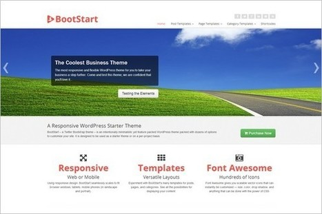 BootStart - A Beautiful Twitter Bootstrap WordPress Theme - WP Daily Themes   CMS   Scoop.it