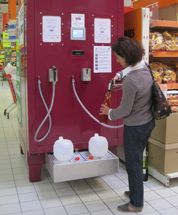 Fill 'er up: self-serve tanks bring wine to French supermarkets | Dr Vino's wine blog | Local Food Systems | Scoop.it