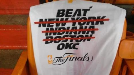 """Miami Heat: """"Shirt on seats at American Airlines Arena for fans tonight"""" 