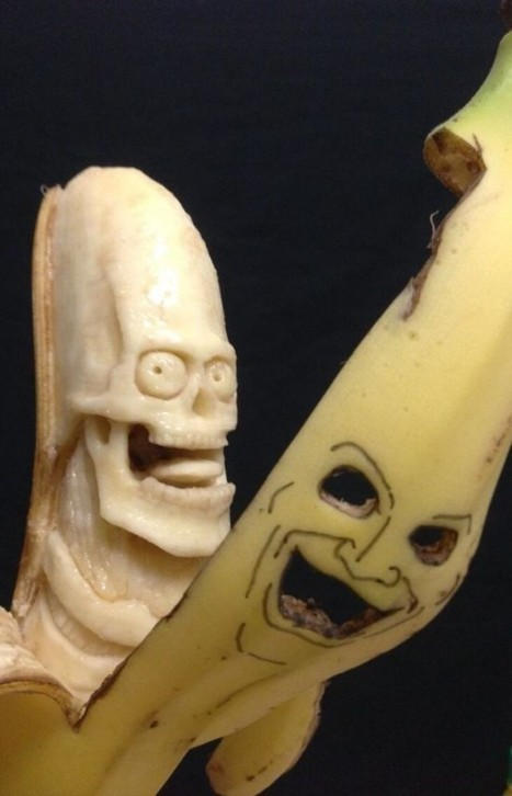 Japanese Artist Uses Toothpicks and a Spoon to Create Amazing Banana Sculptures | Strange days indeed... | Scoop.it