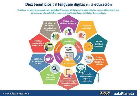 ¿Es eso, de tonto y mentecato?.: Diez beneficios del lenguaje digital en la educación . [infografia], [Infographic] | Educación y TIC | Scoop.it