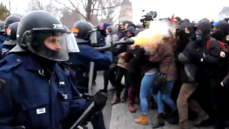 Canadian cops fire tear gas at student protesters' faces (VIDEO) | Trade unions and social activism | Scoop.it