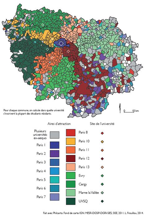 Des ségrégations résidentielles aux ségrégations universitaires : géographie des recrutements étudiants dans la métropole francilienne - Métropolitiques | Habitat et Logement | Scoop.it