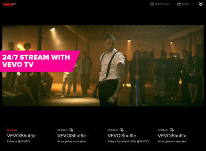 Vevo's 24/7 Music Video Streaming Channel Coming Soon To Apple TV -- AppAdvice | VevoTV the new old MTV? | Scoop.it