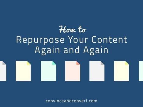 How to Repurpose Your Content Again and Again | B2B Social Media | Scoop.it
