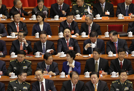 Yawns and other expressions of boredom as China's Communist Party Congress begins | Chinese Cyber Code Conflict | Scoop.it