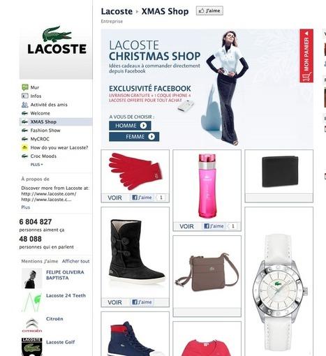 f-commerce : Lacoste sort sa boutique sur Facebook | SocialShopping | Scoop.it